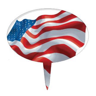 U.S. Bandera Decoraciones Para Tartas