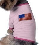 U.S. Bandera Camisas De Mascota