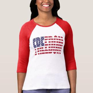 U.S. Bandera de la libertad Playera