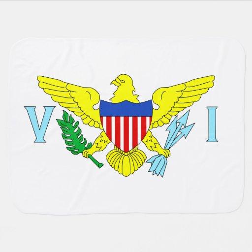 U.S. Bandera de las Islas Vírgenes Mantita Para Bebé