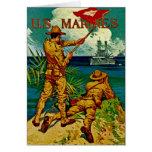 U.S. Bandera de señal del ~ de los infantes de mar Felicitación