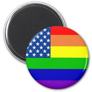 U.S. Bandera del orgullo Imán Redondo 5 Cm