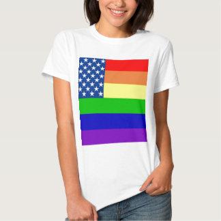 U.S. Bandera del orgullo Playeras