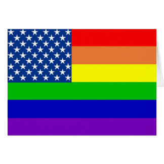 U.S. Bandera del orgullo Tarjeta De Felicitación