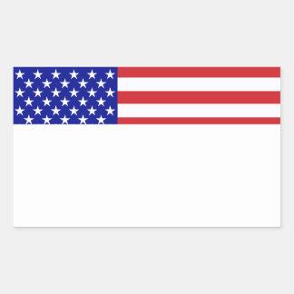 U S Bandera - escriba su propio texto Rectangular Altavoces