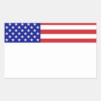 U S Bandera - escriba su propio texto Pegatina
