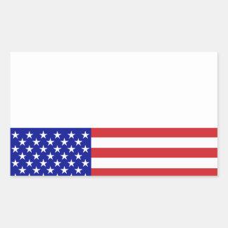 U S Bandera - escriba su propio texto Rectangular Pegatina