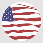 U.S. Bandera Etiquetas Redondas