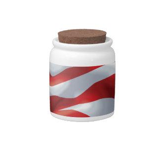 U.S. Bandera Jarras Para Caramelos