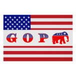 U.S. Bandera - G O P - elefante Poster