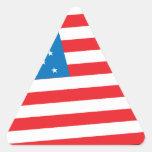 U.S. Bandera Calcomanías De Triangulos Personalizadas
