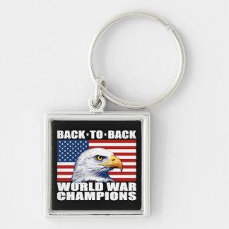 U S Bandera y campeones de la guerra mundial de Llavero Personalizado