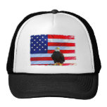 U.S. Bandera y Eagle Gorro De Camionero