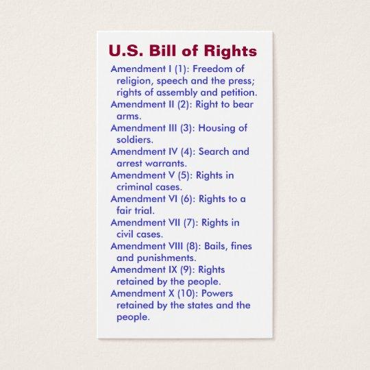 U.S. Bill of Rights ~ First 10 Amendments ~ | Zazzle.com