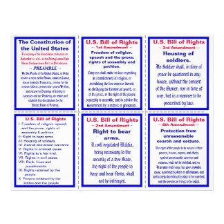 U.S. Bill of Rights Pocket Pamphlet Flyer