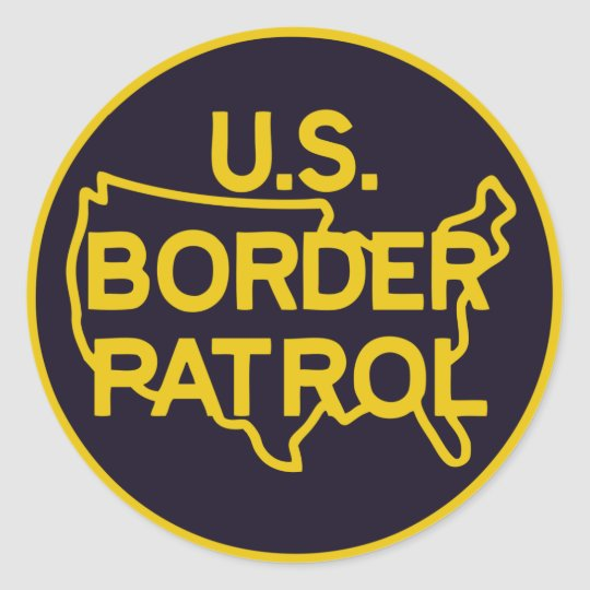 U.S. Boarder Patrol Logo Sticker