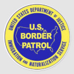 U.S. Border Patrol Badge Classic Round Sticker