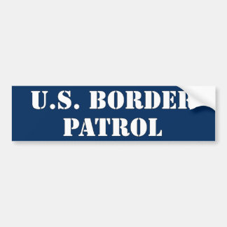 U.S. Border Patrol (text) Car Bumper Sticker