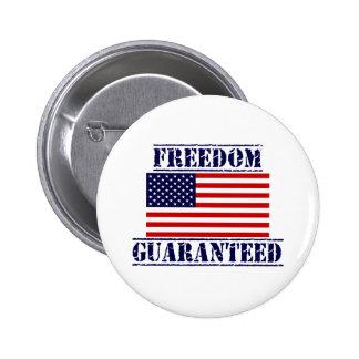 U.S. Botón GARANTIZADO LIBERTAD de la bandera Pin