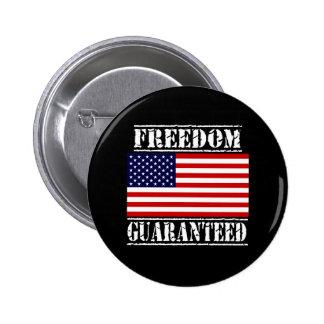 U.S. Botón GARANTIZADO LIBERTAD de la bandera Pins