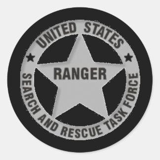 U.S. Búsqueda del guardabosques y grupo de trabajo Pegatinas Redondas
