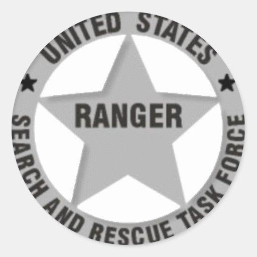 U.S. Búsqueda y rescate del guardabosques Pegatinas Redondas