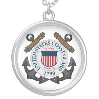 U.S.C.G. SILVER PLATED NECKLACE