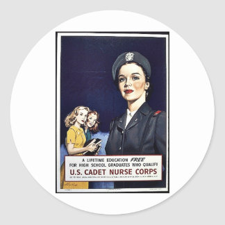 U.S. Cadet Nurse Corps Classic Round Sticker