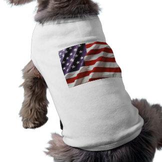 U.S. Camiseta de la bandera Playera Sin Mangas Para Perro