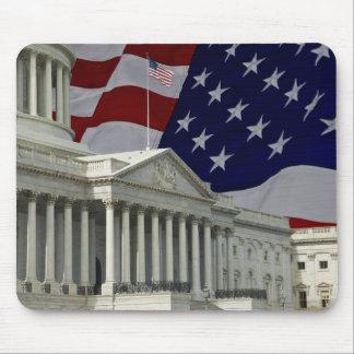U.S. Capital y bandera Alfombrillas De Raton