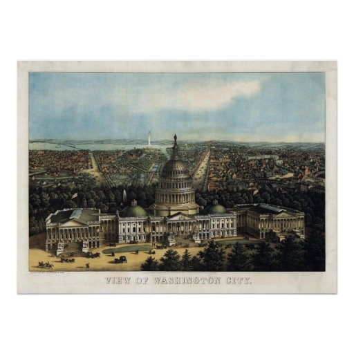 U.S. Capitol, 1871 (Sachse) BigMapBlog.com Poster