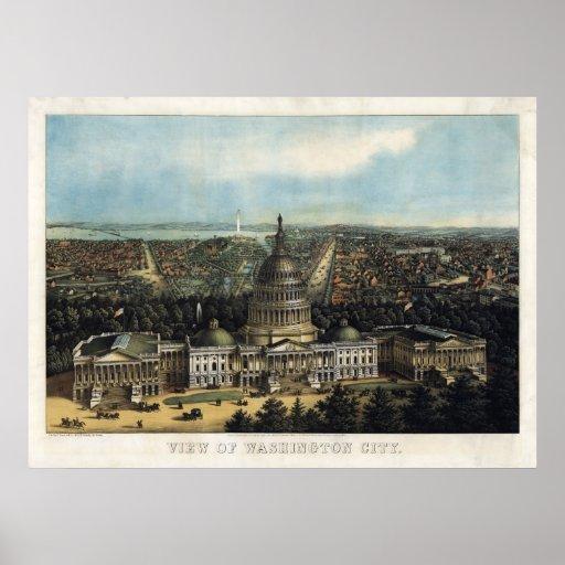 U.S. Capitol, 1871 (Sachse) BigMapBlog.com Print
