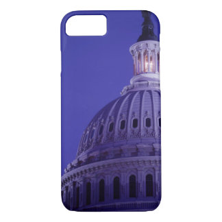 U.S Capitol at dusk with light in dome on iPhone 8/7 Case