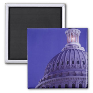 U.S Capitol at dusk with light in dome on Magnet