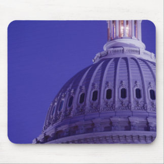 U.S Capitol at dusk with light in dome on Mouse Pad