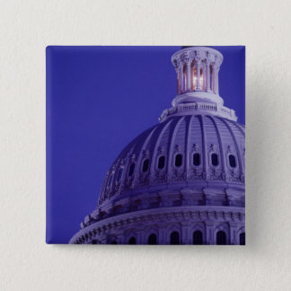 U.S Capitol at dusk with light in dome on Pinback Button
