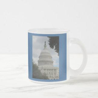 U.S. Capitol, Washington D.C. Frosted Glass Coffee Mug