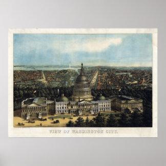 U.S. Capitolio, 1871 (Sachse) BigMapBlog.com Póster