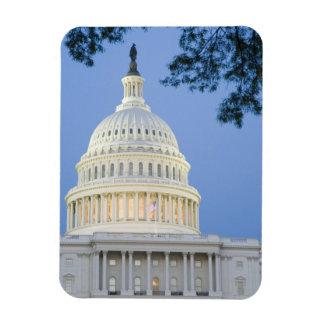 U.S. Capitolio en la oscuridad, C.C. de Washington Imanes Flexibles