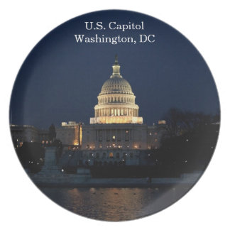 U.S. Capitolio, Washington, placa conmemorativa de Plato De Comida
