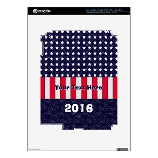 U.S. Celebración patriótica de festividades Pegatinas Skins Para iPad 3