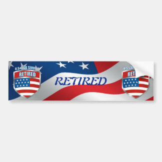 U.S. Civil Service Retired Bumper Sticker