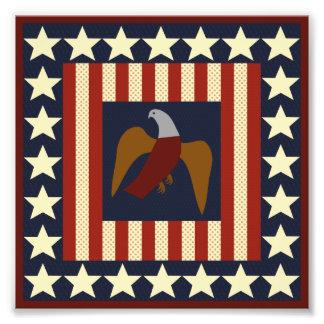 U.S. Civil War Era Union Eagle Quilt-like Square Photo Print