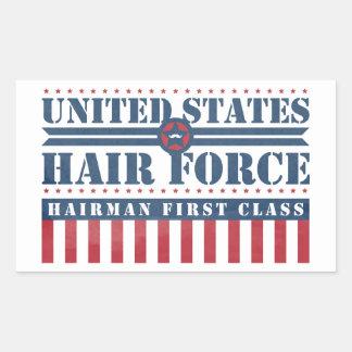 U.S. Clase de Hairman de la fuerza del pelo Pegatina Rectangular