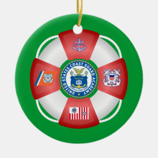 U.S Coast Guard Academy Double-Sided Ceramic Round Christmas Ornament
