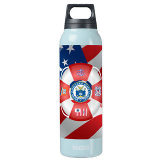 U.S Coast Guard Academy 16 Oz Insulated SIGG Thermos Water Bottle