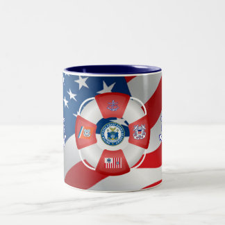 U.S Coast Guard Academy Two-Tone Coffee Mug