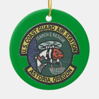 U.S. Coast Guard Air Station Astoria Double-Sided Ceramic Round Christmas Ornament