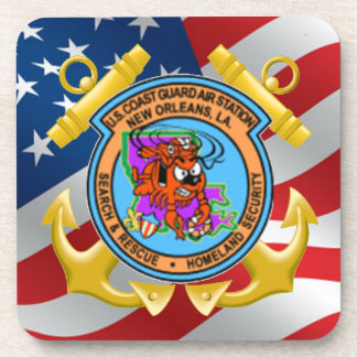 U.S. Coast Guard Air Station New Orleans Beverage Coaster