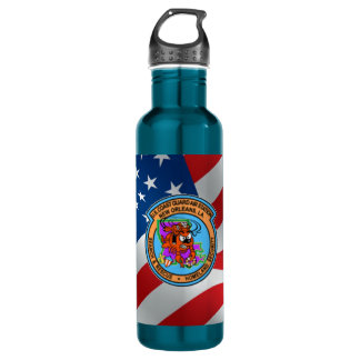 U.S. Coast Guard Air Station New Orleans Stainless Steel Water Bottle